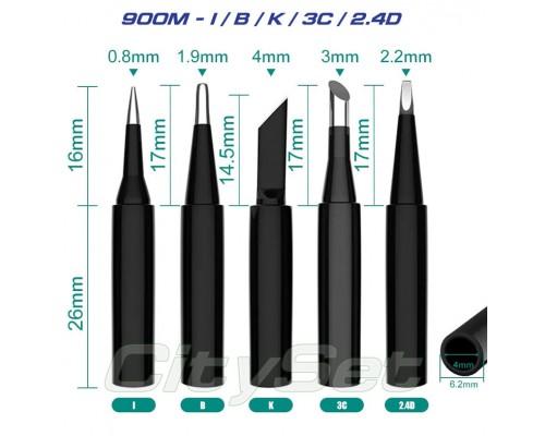 Набор жал 900M-T (I / B / K / 3C / 2.4D)  5 шт.