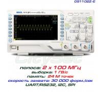 DS1102Z-E осциллограф 2 х 100МГц, память 24М, АЦП: 8 бит