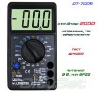 DT700B мультиметр (напряжение, ток, сопротивление, тест диодов)
