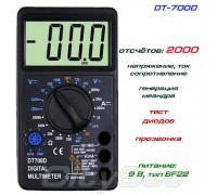 DT700D мультиметр (напряжение, ток, сопротивление, тест диодов, проводимости, генератор -меандр )