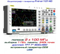 FNIRSI-1014D осцилограф 2 х 100 МГц, з вбудованим генератором DDS
