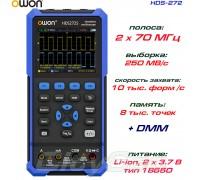 HDS272 портативный осциллограф 2 х 70МГц, +DMM