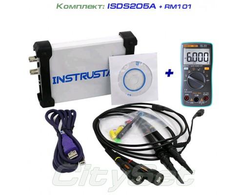 Набор: осциллограф ISDS205A, мультиметр RM101