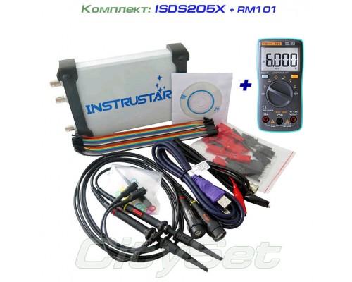 Набор: осциллограф ISDS205X (c генератором и логическим анализатором), мультиметр RM101