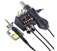 JCD-8898 ремонтная паяльная станция 2 в 1, 750 Вт,  от100°С до500°C