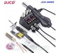JCD-8898 kit, ремонтная паяльная станция 2 в 1, 750 Вт,  от100°С до500°C, + флюс  BGA, пинцет, лента для снятия припоя