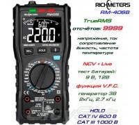 Richmeters, RM406B, профессиональный мультиметр TrueRMS, погрешность: ±0,5%, отсчётов: 9999, генератор тонов, NCV, Live