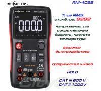 Richmeters, RM409B, профессиональный мультиметр TrueRMS, погрешность: ±0,5%, отсчётов: 9999