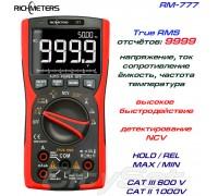 Richmeters, RM777, профессиональный мультиметр TrueRMS, погрешность: ±0,5%, отсчётов: 9999, генератор