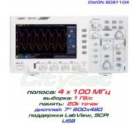 """SDS1104 осциллограф 2 х 100МГц,  выборка 1 ГВ/с, дисплей 7"""""""