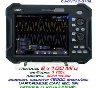 TAO3102 осциллограф OWON. 2 х 100 МГц, память 40М, АЦП: 8 бит