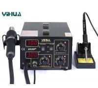 YIHUA-852D+ ремонтная станция,  от100°С до480°C, компрессор, 2 дисплея