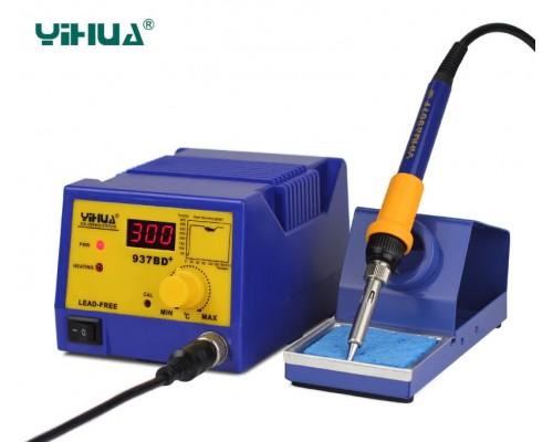 YIHUA 937BD+ паяльная станция, антистатик,  от200°С до480°C, мощность: 75 Вт