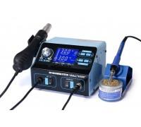 YIHUA-992D+ ремонтная паяльная станция 2 в 1, 650 / 75 Вт, от100°С до480°C