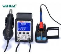 YIHUA-995D+ ремонтная паяльная станция 2 в 1, 650 Вт,  от100°С до480°C