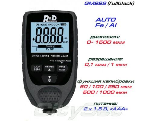 GM998 fullblack толщиномер краски, Fe/NFe, до 1500 мкм