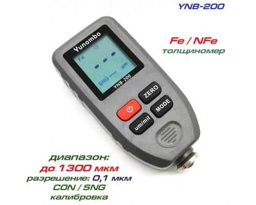 YNB-200 толщиномер краски, Fe/NFe, до 1300 мкм
