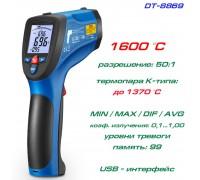 DT8869 высокотемпературный пирометр, до 1600°С, термопара К-типа, USB-интерфейс