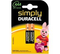 Duracell Simply, батарейка 1.5В, тип АAА