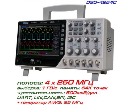 DSO4254C осциллограф 4 х 250 МГц