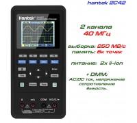 hantek 2C42 портативный осциллограф 2 х 40МГц, +DMM
