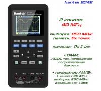 hantek 2D42 портативный осциллограф 2 х 40МГц, +DMM, +AWG