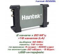Hantek 6022BL USB-осциллограф 2 х 20МГц, +логический анализатор 16-ти канальный
