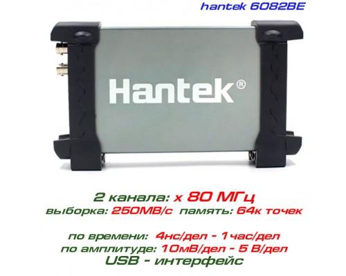 Hantek 6082BE USB-осциллограф 2 х 80 МГц + EXT