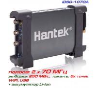 Hantek iDSO1070A  WiFi-осциллограф 2х70МГц, Wi-Fi, батарея Li-ion
