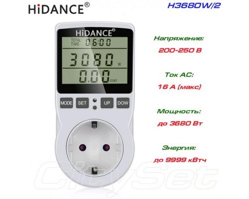 H3680W-2 измеритель мощности, счётчик энергии