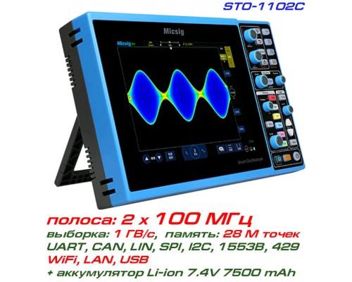 STO1102C осциллограф Micsig,  2 х 100 МГц