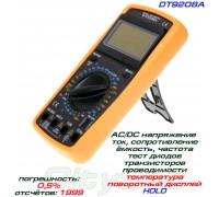 DT9208A, цифровой мультиметр с термопарой