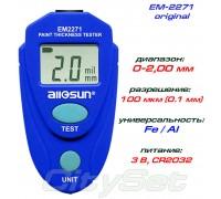 ALLOSUN EM-2271 толщиномер краски, ОРИГИНАЛ, Fe/NFe, до 2.00 мм