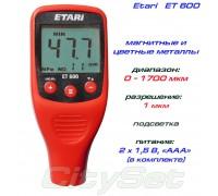 Erari ET600 толщиномер краски, Fe/NFe, до 1700 мкм