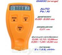 GM200 (orange) толщиномер краски, Fe/NFe, до 1800 мкм