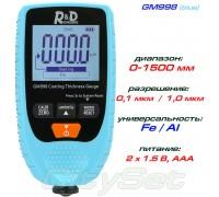 GM998 blue толщиномер краски, Fe/NFe, до 1500 мкм
