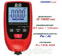 GM998 red толщиномер краски, Fe/NFe, до 1500 мкм