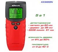 MK08 KKMOON искатель скрытой проводки, детектор дерева и металла с функцией температуры и влажности
