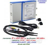 OSC482M - C520M USB-осциллограф 2 х 20МГц, Android