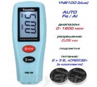 YNB-100 (бирюзовий) толщиномер краски, Fe/NFe, до 1800 мкм