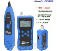 Noyafa NF309 многофункциональный кабельный тестер, трассоискатель, POE-тестер