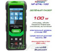 Noyafa NF-274L-100 лазерная рулетка до 100 метров, зелёный лазер!