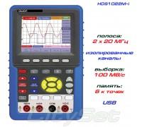 HDS1022M-I портативный осциллограф OWON, полоса: 2 х 20 МГц, изолированные входы