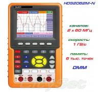 HDS2062M-N портативный осциллограф OWON, полоса: 2 х 60 МГц