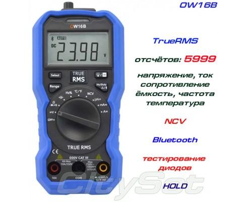 OW16B, профессиональный мультиметр, TrueRMS, Bluetooth