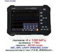 TAO3104 осциллограф OWON. 4 х 100МГц, память 40М, АЦП: 8 бит