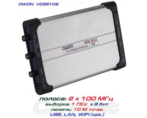 VDS6102 USB-осциллограф 2 х 100 МГц