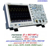 XDS3062A осциллограф 2 х 60МГц