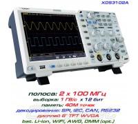 XDS3102A осциллограф 2 х 100МГц