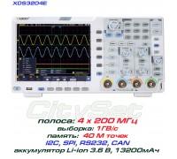 XDS3204E осциллограф 4 х 200МГц, память 40М, АЦП: 8 бит